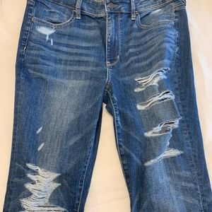 Women's distressed jean AE